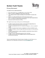 Data Protection GDPR Privacy Statement