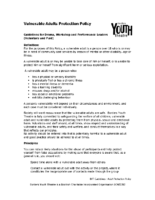 Vulnerable Adults Policy
